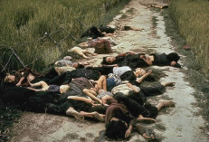 UNSPECIFIED - CIRCA 1754: The My Lai Massacre, the mass murder of 347 to 504 unarmed citizens of the Republic of Vietnam (South Vietnam), almost entirely civilians and the majority of them women and children, perpetrated by US Army forces on March 16 1968. Bodies of some of the victims lying along a road. (Photo by Universal History Archive/Getty Images)